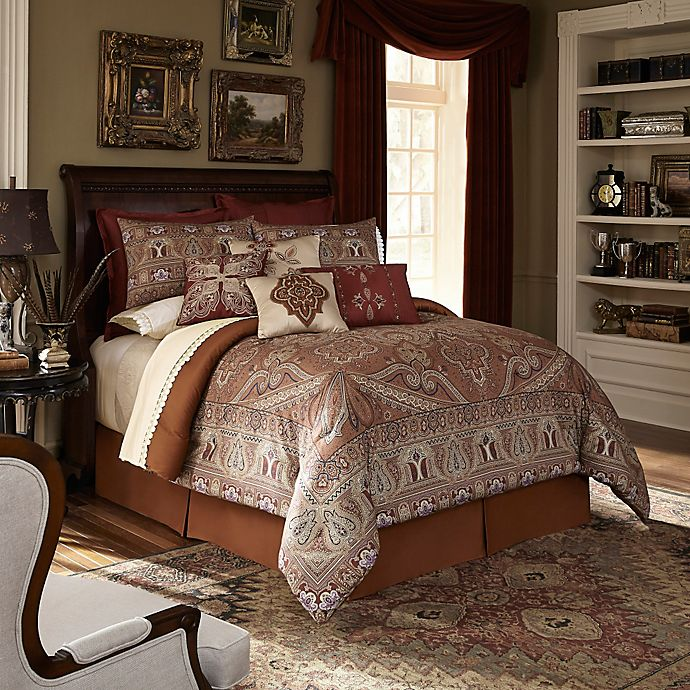 Downton Abbey Grantham Comforter Set In Rust Bed Bath Beyond