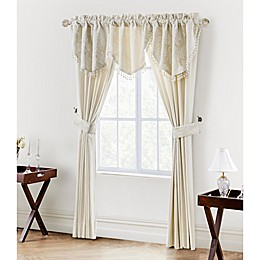 Waterford® Linens Paloma Cascade Window Valance in Ivory