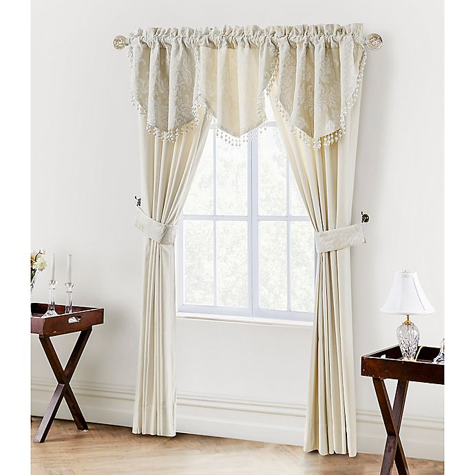 Alternate image 1 for Waterford® Linens Paloma 84-Inch Window Curtain Panel Pair in Ivory
