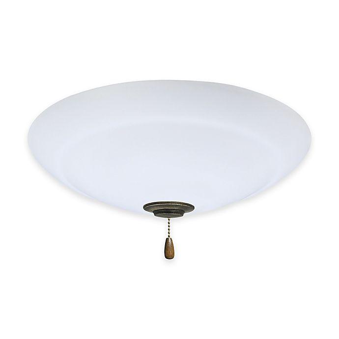 Alternate image 1 for Emerson Riley Opal Matte Bowl Light Kit for Ceiling Fan in Vintage Steel
