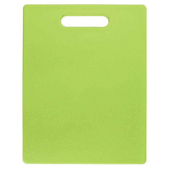 Alternate image 1 for Dexas® 10.87-Inch x 14.37-Inch Jelli® Chop & Scoop® Cutting Board in Green