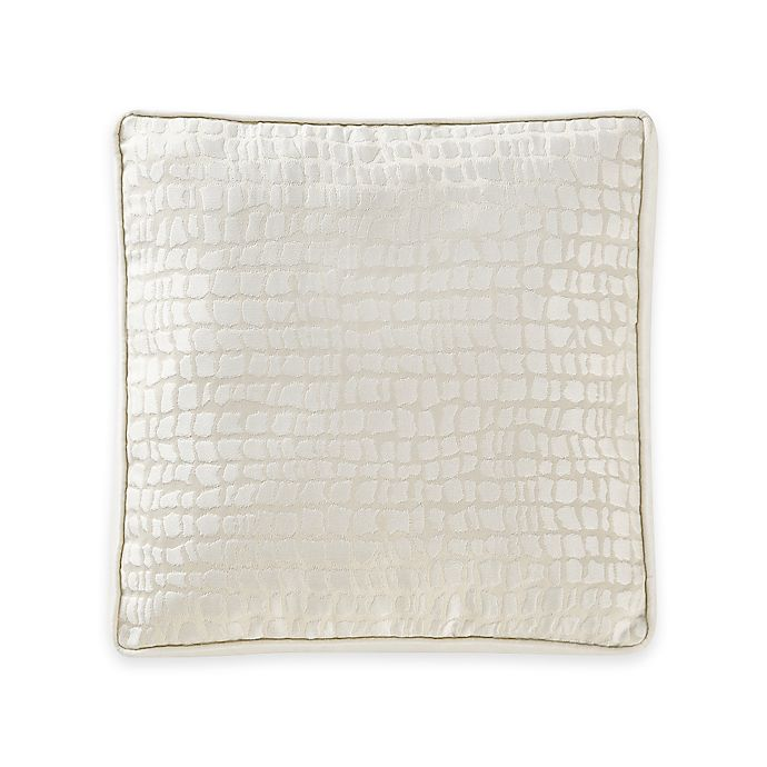 Alternate image 1 for Waterford® Linens Paloma Cascade Embroidered Square Throw Pillow in Ivory