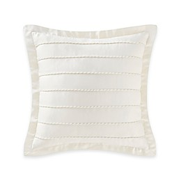 Waterford® Linens Paloma Cascade Corded Square Throw Pillow in Ivory