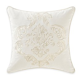 Waterford® Linens Paloma Cascade Applique Square Throw Pillow in Ivory