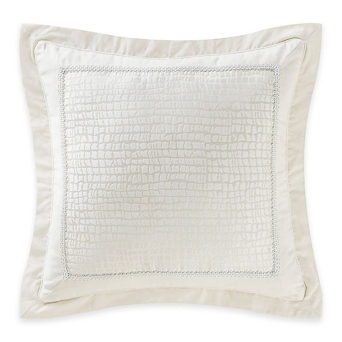 Alternate image 1 for Waterford® Linens Paloma Cascade European Pillow Sham in Ivory