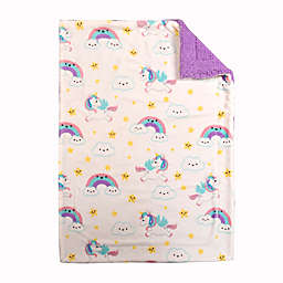 Baby's First by Nemcor Unicorn Ultimate Sherpa Blanket
