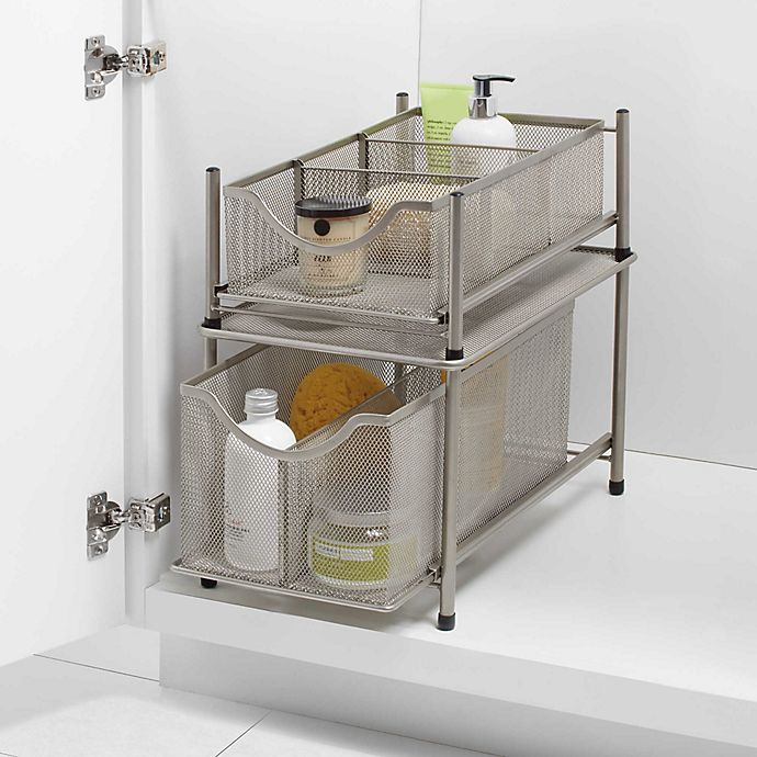 Alternate image 1 for ORG Under the Sink Mesh Slide-Out Cabinet Drawer Collection