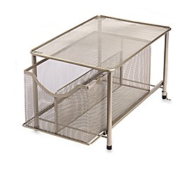 ORG Large Under the Sink Mesh Slide-Out Cabinet Drawer with Shelf