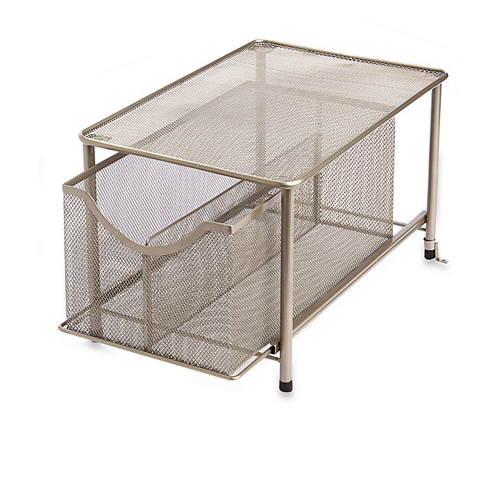 Alternate image 1 for ORG Large Metal Mesh Cabinet Drawer