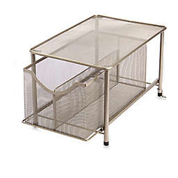 .ORG Large Under the Sink Mesh Slide-Out Cabinet Drawer with Shelf