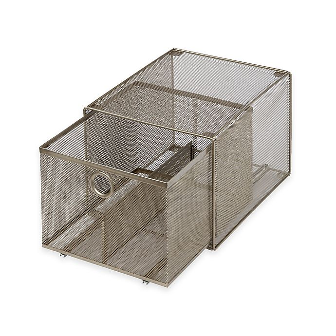 Alternate image 1 for ORG Large Steel Mesh Stacking Drawer