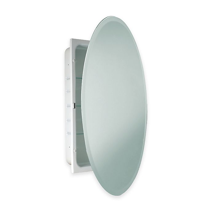 Oval Beveled Recessed Mirrored Medicine