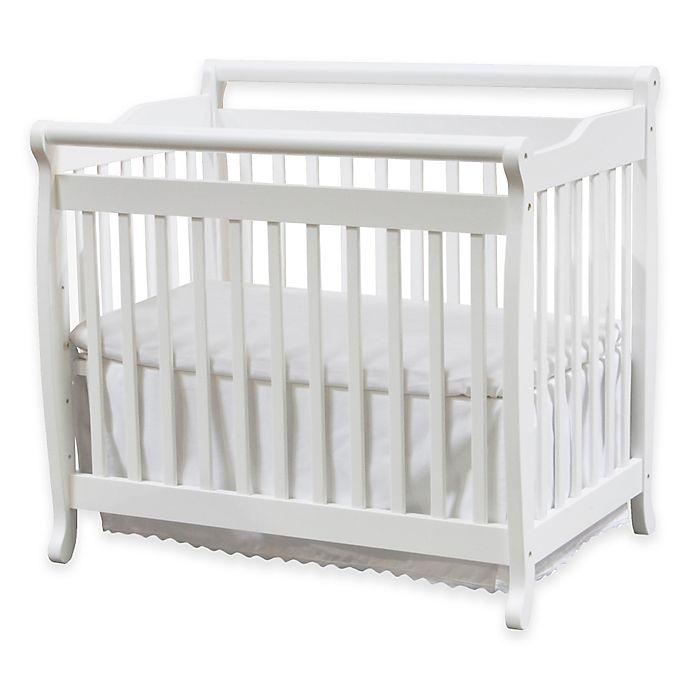 Alternate image 1 for DaVinci Emily 2-in1 Convertible Mini Crib in White
