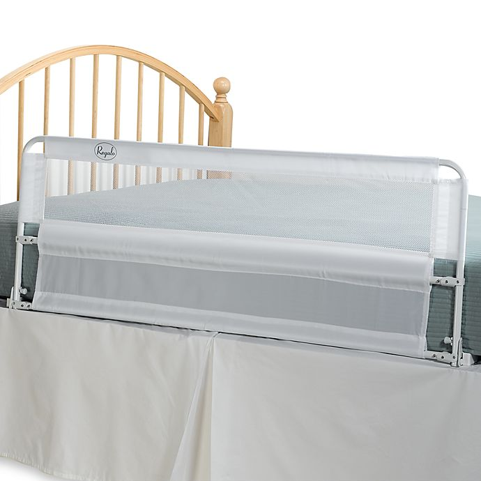 Hide away extra long 54 inch portable bed rail by regalo for Regalo mobile tv