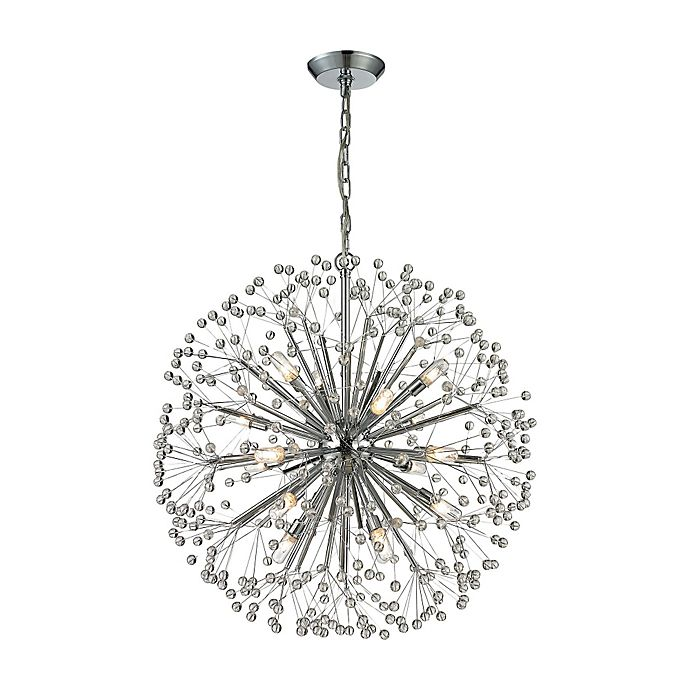 Alternate image 1 for Elk Lighting Starburst 16-Light Chandelier in Polished Chrome