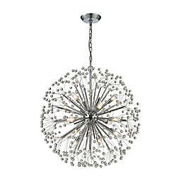 Elk Lighting Starburst 16-Light Chandelier in Polished Chrome