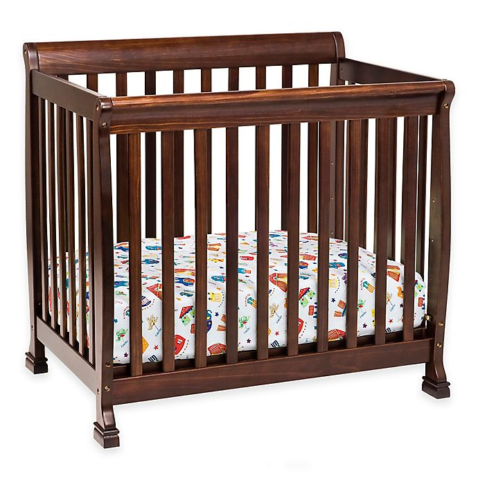 Alternate image 1 for DaVinci Kalani 4-in1 Convertible Mini Crib in Espresso