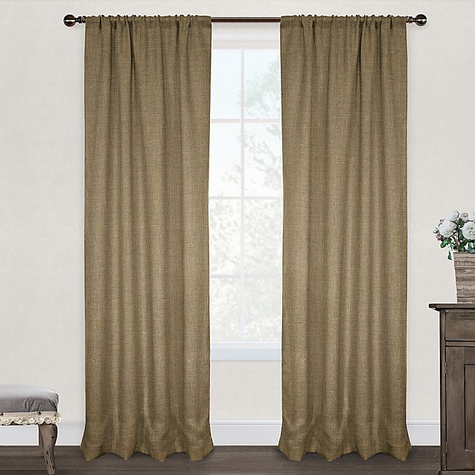 Alternate image 1 for Burlap Rod Pocket Window Curtain Panel Pair in Natural