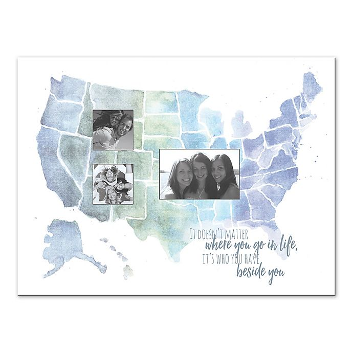 Alternate image 1 for Not Where You Go But Who is By Your Side Canvas Wall Art