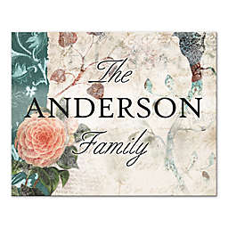 Vintage Cottage Family Sign 20-Inch x 16-Inch Canvas Wall Art