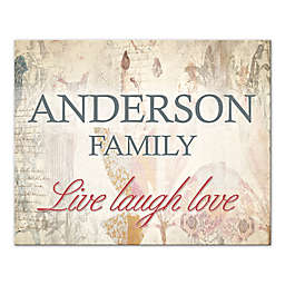 """""""Live Laugh Love"""" Family Sign Canvas Wall Art"""