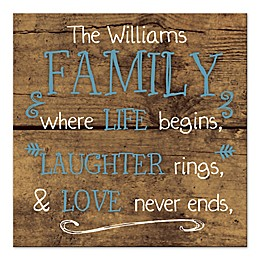 Family Never Ends Wall Art