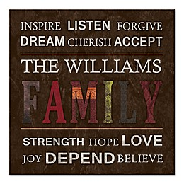 Sweet Family Rules Canvas Wall Art