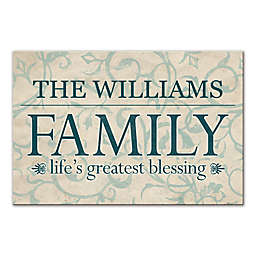 """""""Life's Greatest Blessing"""" Family Sign 24-Inch x 16-Inch Canvas Wall Art"""