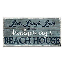 """""""Live Laugh Love"""" Beach House Canvas Wall Art"""