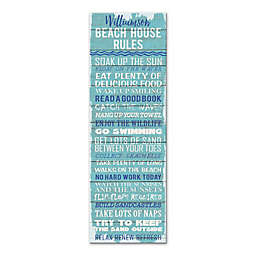 Beach House Rules Wall Art