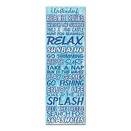 Beach Rules Canvas Wall Art