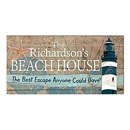 Beach House Escape Canvas Wall Art