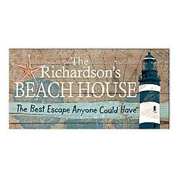 Beach House Escape 20-Inch x 10-Inch Canvas Wall Art