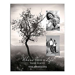 """Where There Is Life There Is Love"" Tree Canvas Wall Art"