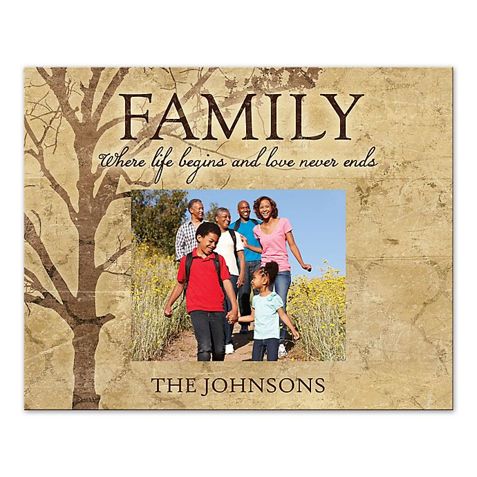 Alternate image 1 for Family Tree Love Never Ends Canvas Wall Art