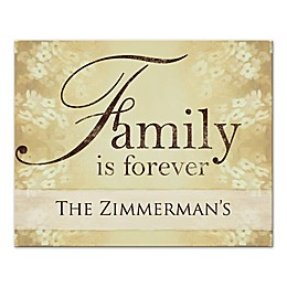 """Family is Forever"" Canvas Wall Art"