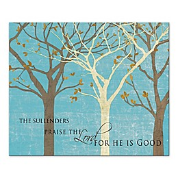 Family Praise the Lord Canvas Wall Art