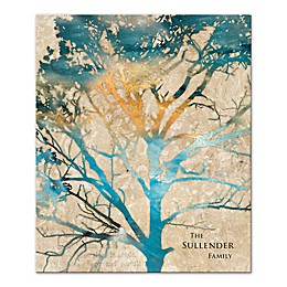 Watercolor Family Tree Canvas Wall Art