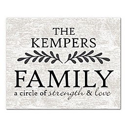 """""""Family a Circle of Strength and Love"""" Canvas Wall Art"""