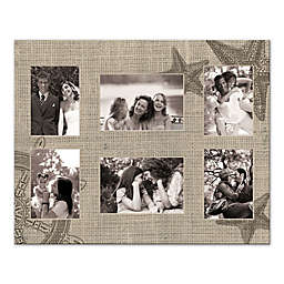 Pied Piper Creative Starfish Photo Collage 20-Inch x 16-Inch Canvas Wall Art