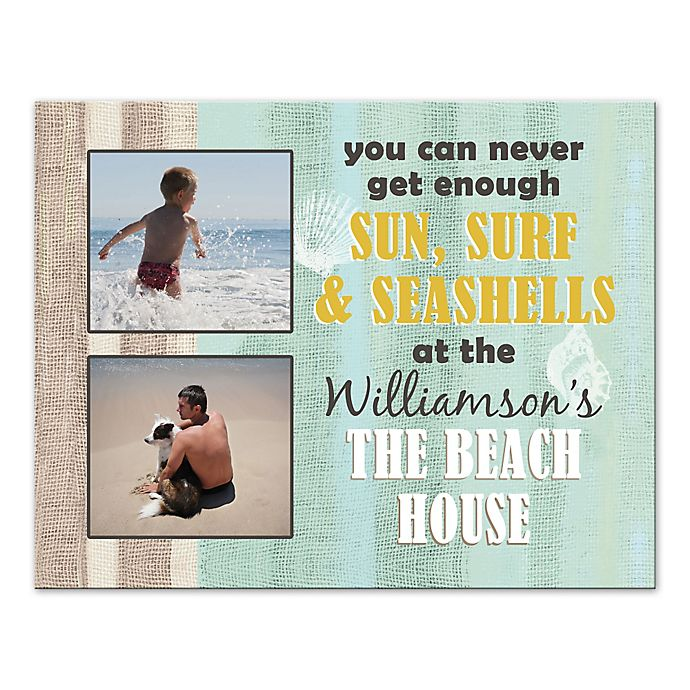 Alternate image 1 for Never Get Enough Beach House Canvas Wall Art