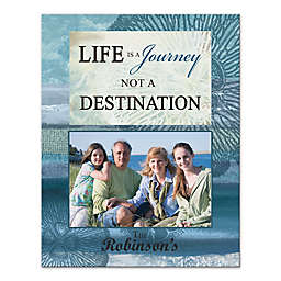 """Pied Piper Creative """"Life Is a Journey"""" 11-Inch x 14-Inch Canvas Wall Art"""