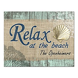 Relax At The Beach Canvas Wall Art