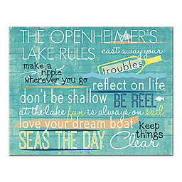 Lake Rules 14-Inch x 11-Inch Personalized Canvas Wall Art