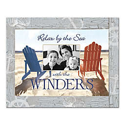 """Pied Piper Creative """"Relax by the Sea"""" 20-Inch x 16-Inch Canvas Wall Art"""