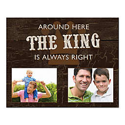 The King Rules Canvas Wall Art