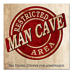 Restricted Man Cave Canvas Wall Art