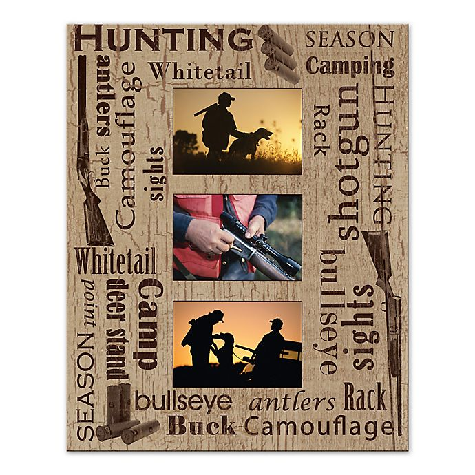 Alternate image 1 for Hunting Photo Collage Digitally Printed Canvas Wall Art