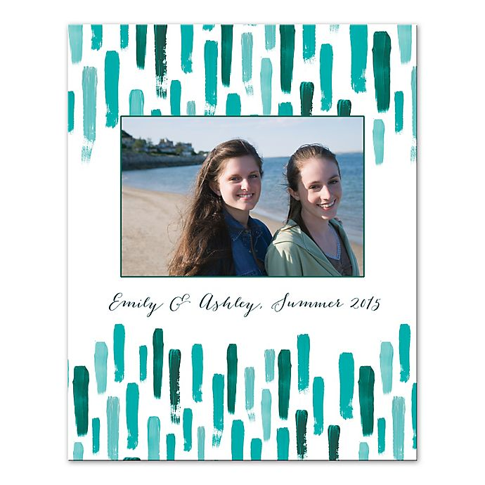 Alternate image 1 for Teal Paint Strokes Digitally Printed Canvas Wall Art