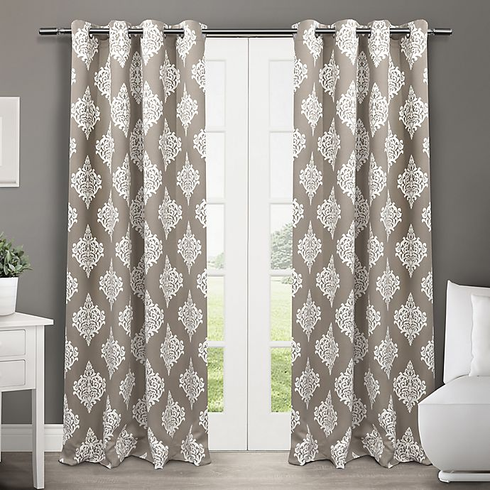 Alternate image 1 for Medallion 2-Pack 84-Inch Grommet Top Room-Darkening Insulated Window Curtain Panels